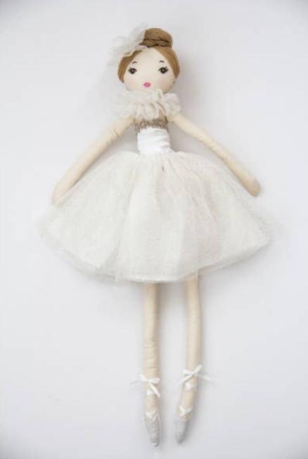 Creme Ballerina Doll