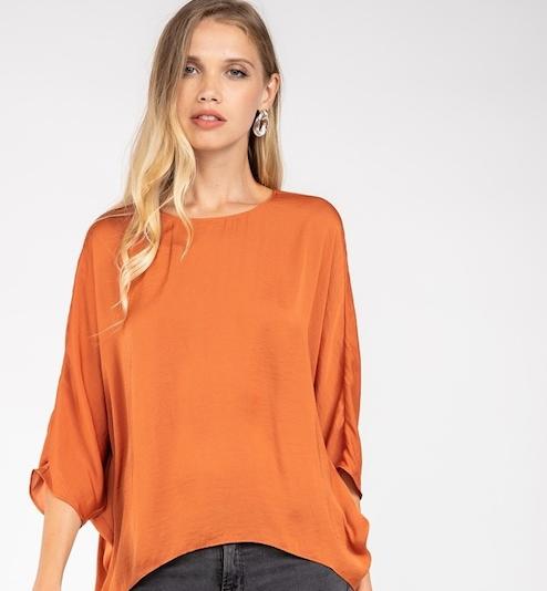 Maple  3/4 Dolman Sleeve Dress Top