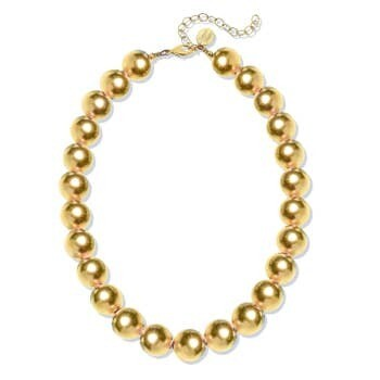 -Gold Plated Ball Choker Necklace