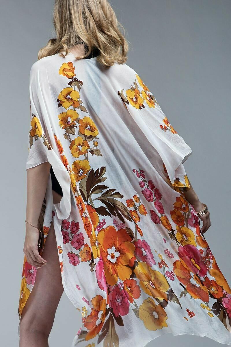 Poppy Floral Kimono
