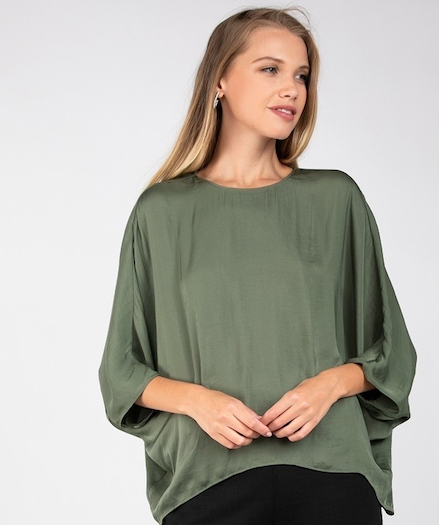 Laurel 3/4 Dolman Sleeve Dress Top