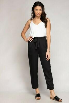 Black Summer Colour Pant