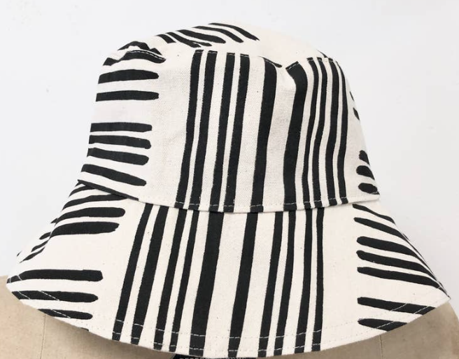 Black Brush Bucket Hat