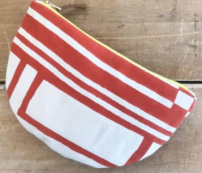 Tomato Geo Half Moon Bag