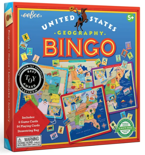 United States Bingo Board Game