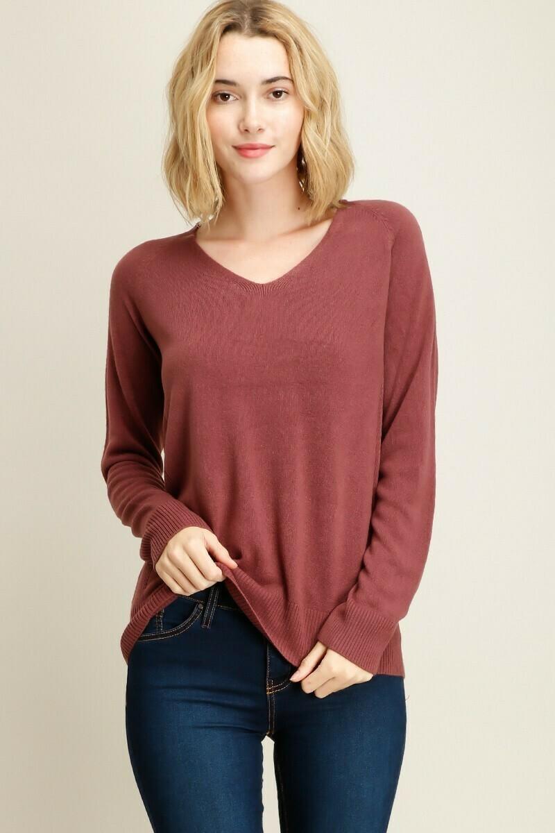 Side detail  V-Neck Sweater