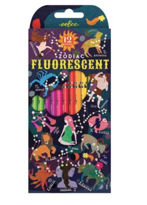Zodiac 12 Fluorescent Color Pencils