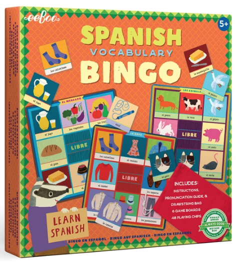 Spanish Bingo Board Game