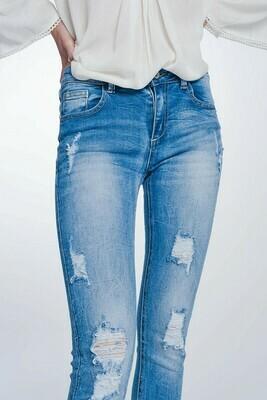 Frayed Distressed Jean