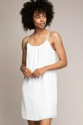 White Colour Strappy Dress