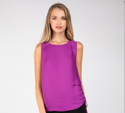 Side Rauching Mulberry Top