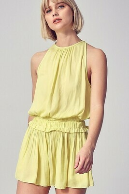 Smocked & Pleated Romper