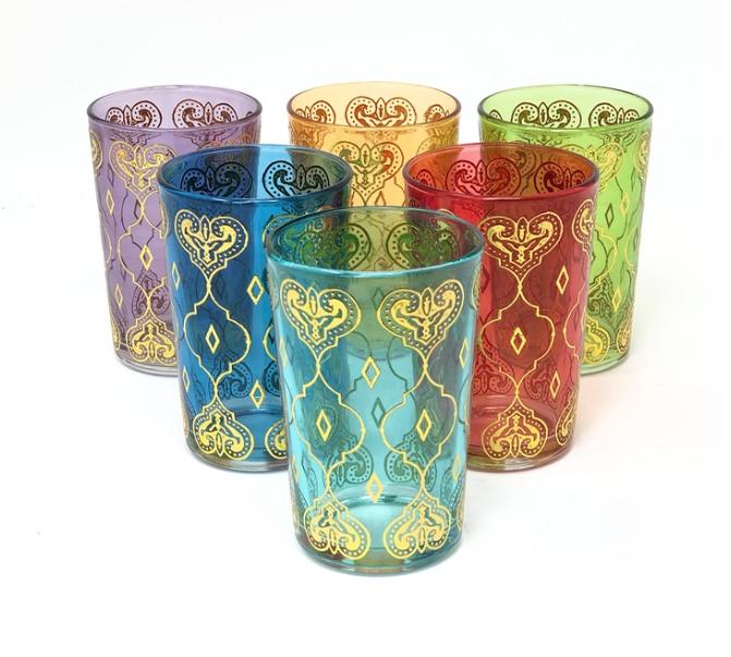 Gold Hart Tea Glass