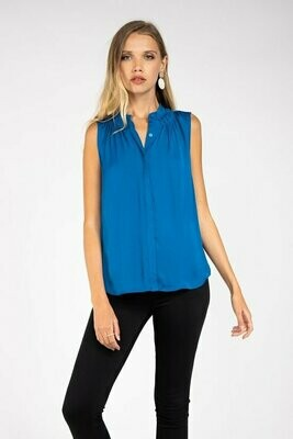 Banded Collar Top