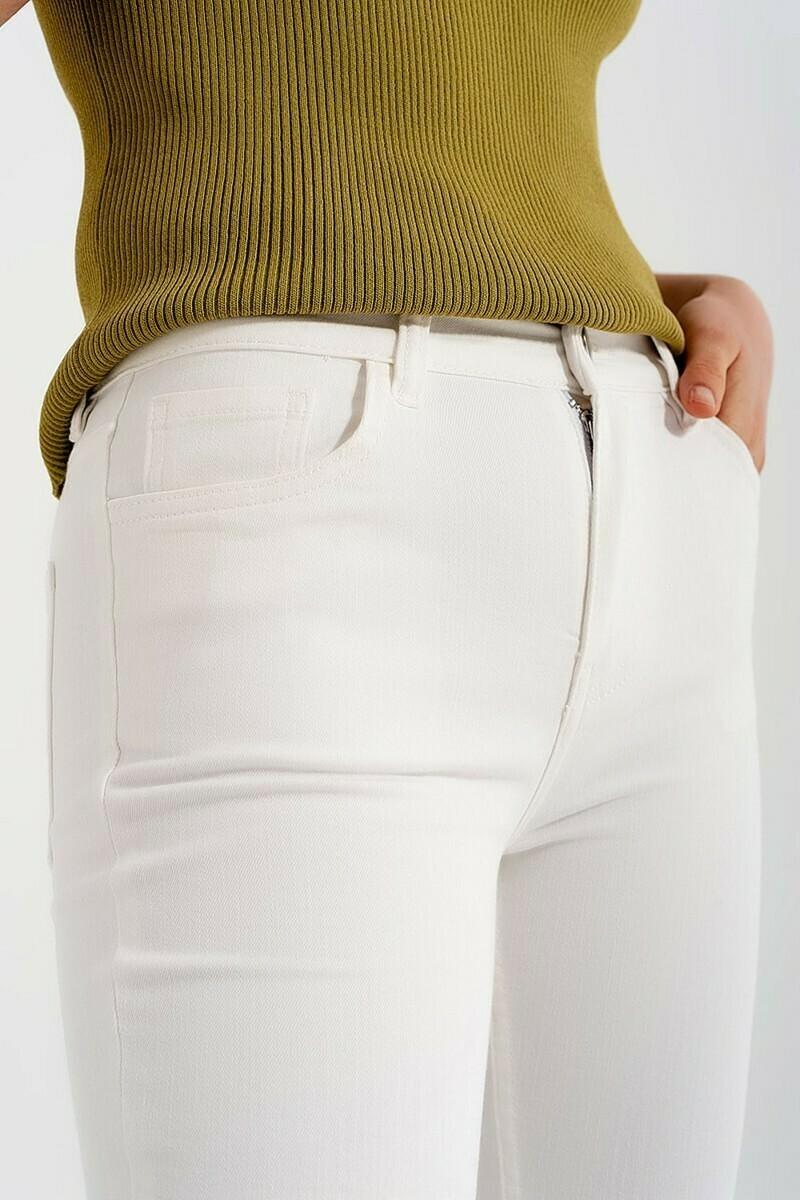 White Slim Fit Jean