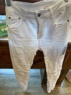 Crinkle Moto Knee Pant