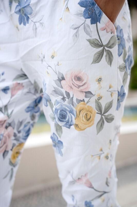 Floral Crinkle Pant