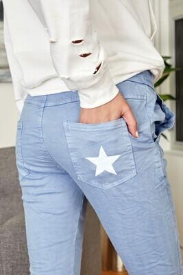 Sunset Blue Crinkle Pant