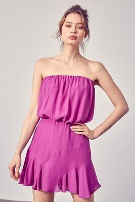 Strapless Detail Dress