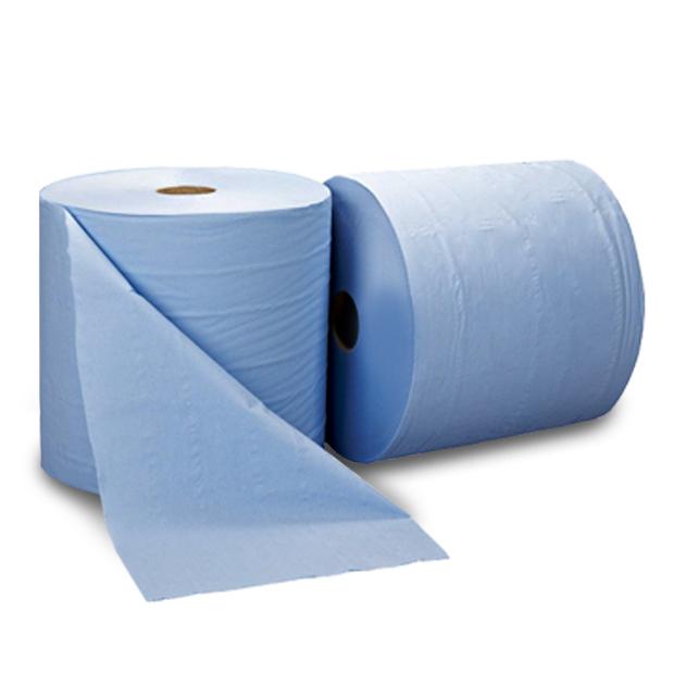 Maxi rollen blauw sterk, 500coupons, 3laags 37cm