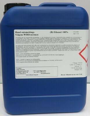 Ontsmettingsalcohol  (70% ethanol)  5L.