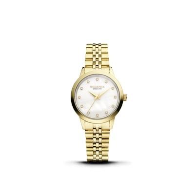 MONTREUX: Gold Bezel Gold Case, MOP Dial, Gold Bracelet, 30mm