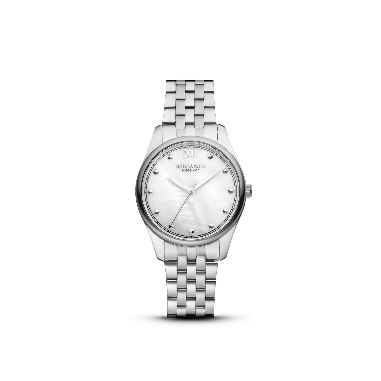 GSTAAD: Silver Bezel Silver Case, MOP Dial, Silver Bracelet, 32mm