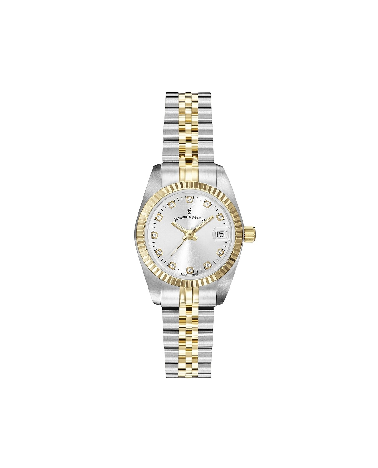 nspiration SS IPGold Two Tone case, SILVER Dial, SS IPGold Two Tone Bracelet, 26.0 mm