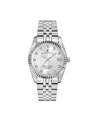 Inspiration Stainless Steel case, SILVER Dial, Stainless Steel (no Plating) Bracelet, 26.0 mm