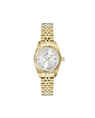 Inspiration SS IPGold case, SILVER Dial, SS IPGold Bracelet, 26.0 mm