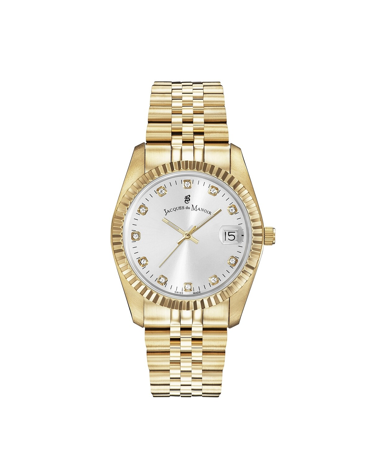 Inspiration SS IPGold case, SILVER Dial, SS IPGold Bracelet, 36.0 mm