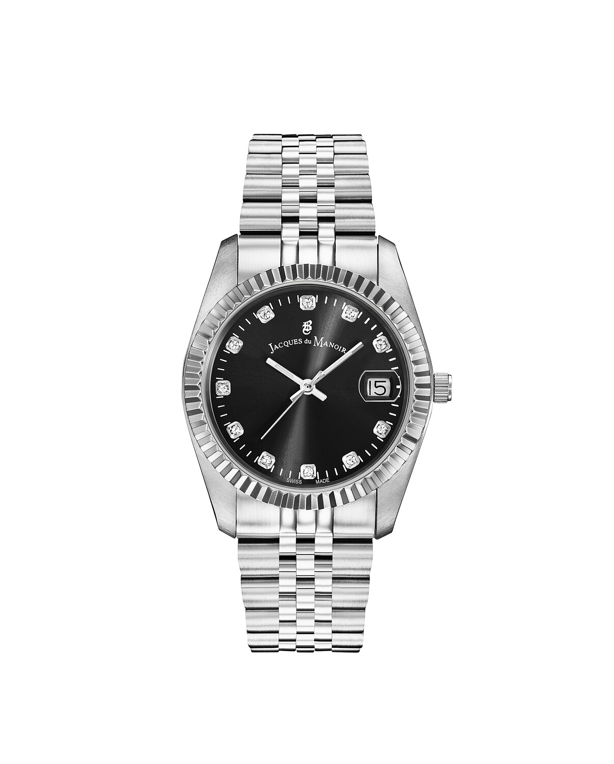 Inspiration Stainless Steel case, BLACK Dial, Stainless Steel (no Plating) Bracelet, 36.0 mm