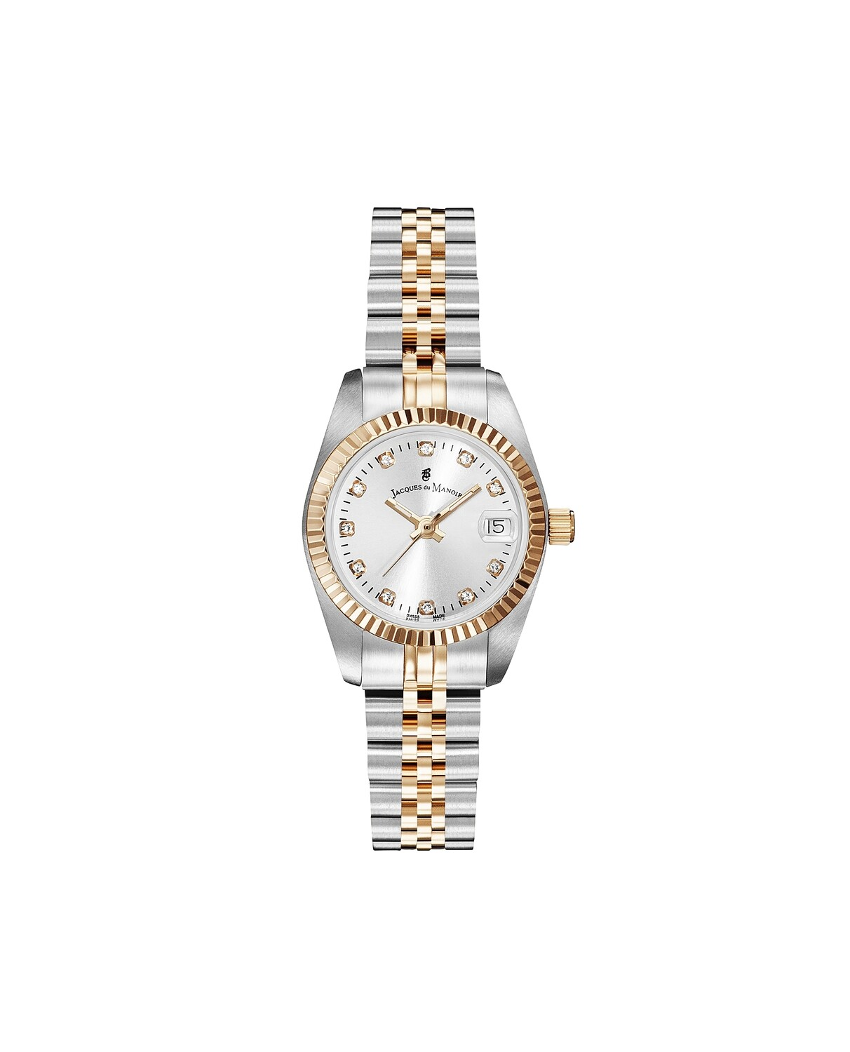 NROP.24] Inspiration Inspiration SS IPRosegold Two Tone case, WHITE Dial, SS IPRosegold Two Tone Bracelet, 26.0 mm