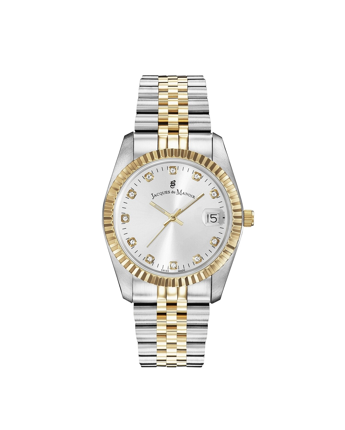Inspiration SS IPGold Two Tone case, SILVER Dial, SS IPGold Two Tone Bracelet, 36.0 mm