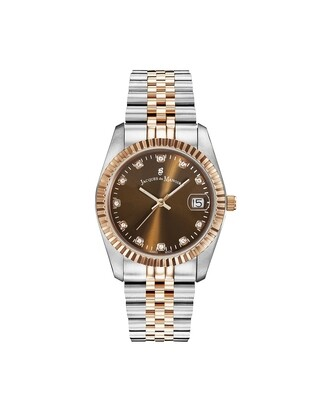 [NROP.25] Inspiration Inspiration SS IPRosegold Two Tone case, BROWN Dial, SS IPRosegold Two Tone Bracelet, 36.0 mm