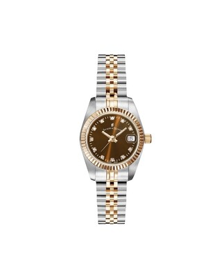 NROP.26] Inspiration Inspiration SS IPRosegold Two Tone case, BROWN Dial, SS IPRosegold Two Tone Bracelet, 26.0 mm