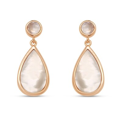 EA2159MOP Rose plated set with mother of pearl