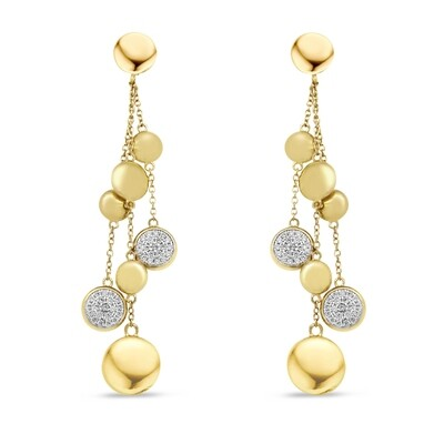 EA2167G Gold plated set with white cz