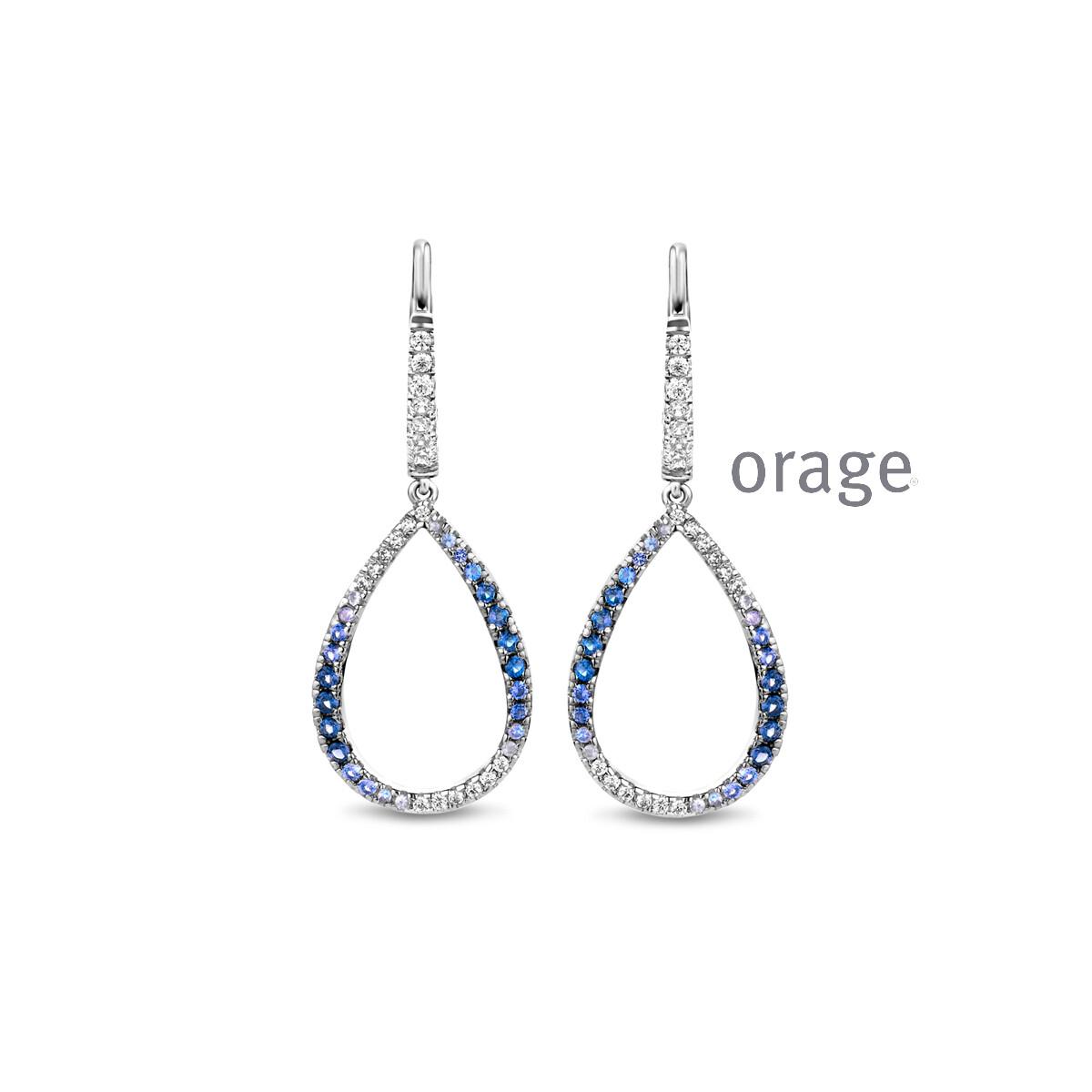 Orage: AR145 Oorslingers blauw 925 rh cz (V/14)