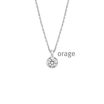 Orage: AR032-V1333 Ketting 925 rh cz (V/39)