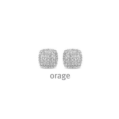 Orage: AR153 Oorringen 925 rh cz (V/39)