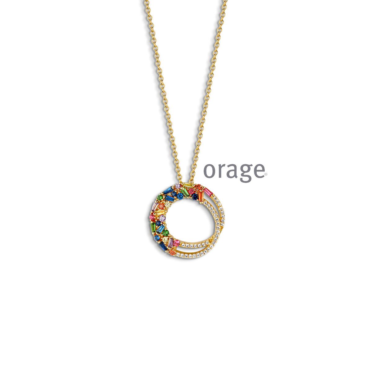 Orage: AR041-AP065 Ketting verguld geel goud cz (V/14)