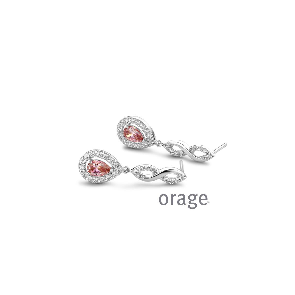Orage:  AR023-V1301 Oorslingers morganiet 925 rh cz (V/14)