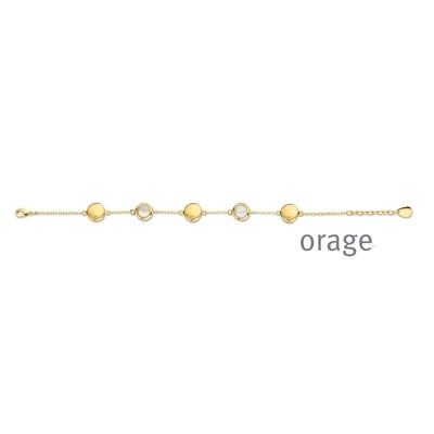 Orage:  AR116 Armband verguld geel goud (V/28)