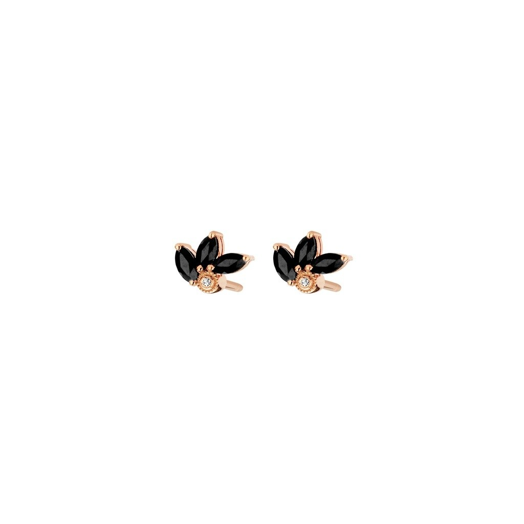[M1444-3S4-P01] Flame Earrings - Yellow - Pin