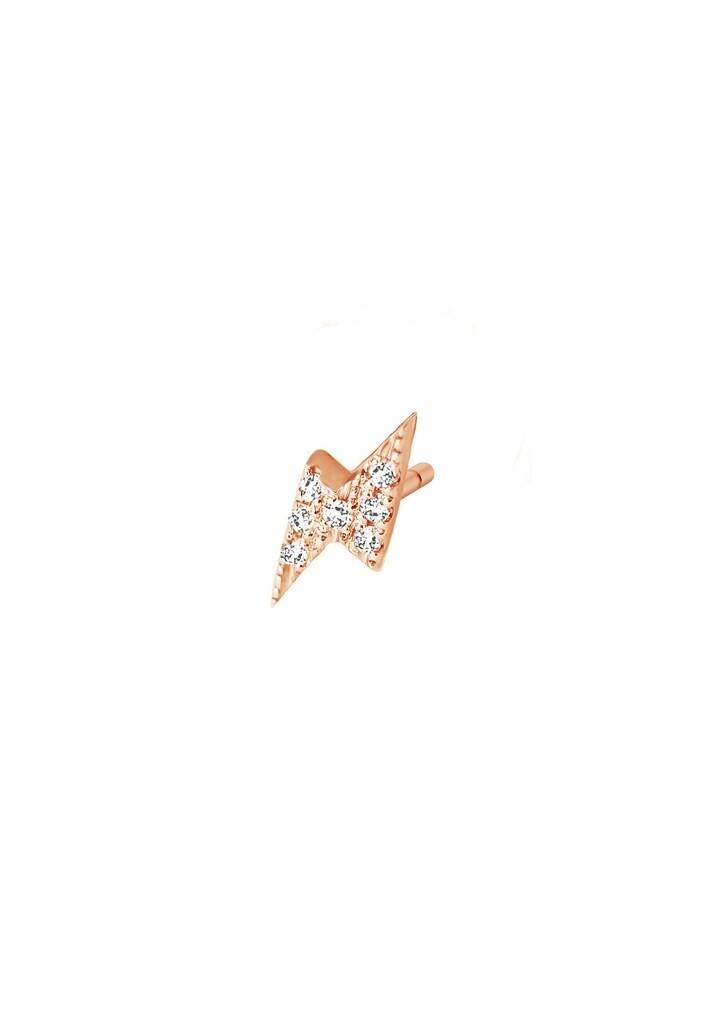 [M999-1S4-P01] Thunder (Single) Earring - White - Pin White Diamond : 7pc (0.0280cts)