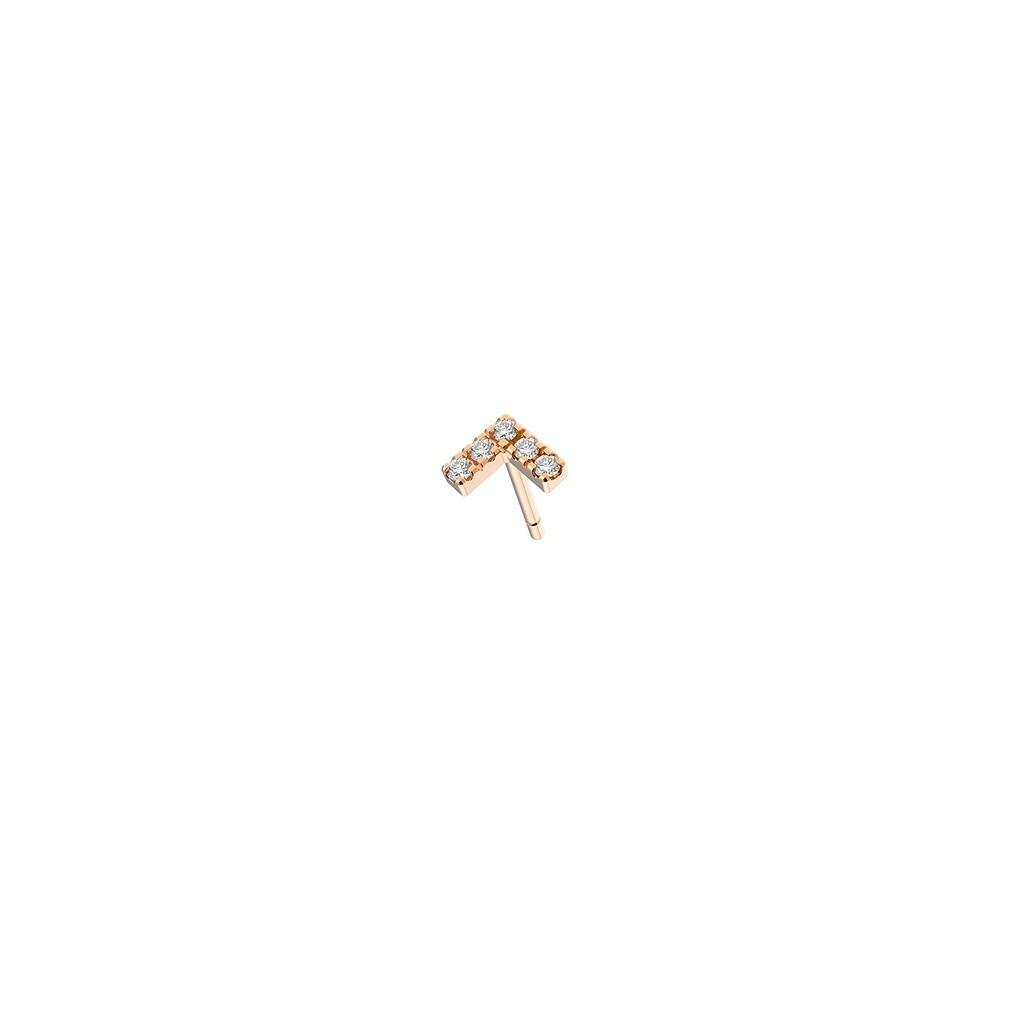 [M1142-1S4-P01] Agra (Single) Earring - White - Pin White Diamond : 5pc (0.0200cts)