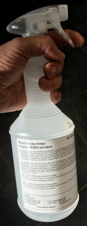 Ontsmettingsalcohol  spray (>70% ethanol)  1L.