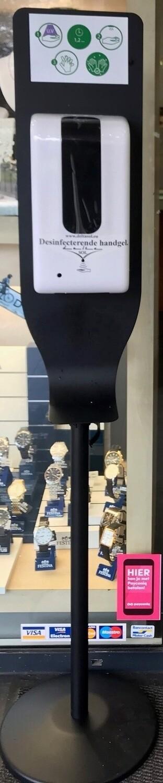 Dispenser handgel met sensor op voet