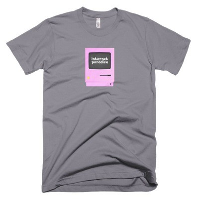 internet paradise unisex t-shirt, american apparel